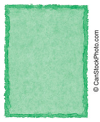 Green Stained Paper