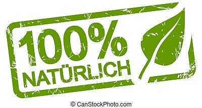 green stamp 100% NATURAL (in german)