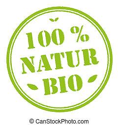 Green stamp 100% organic nature