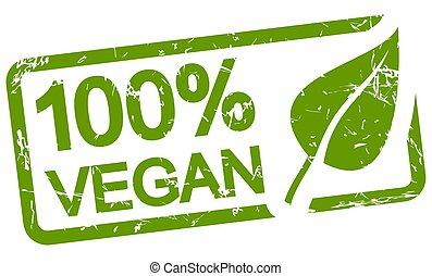 green stamp 100% VEGAN