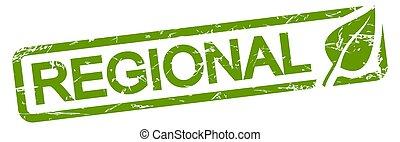 green stamp REGIONAL - green grunge stamp with frame, big ...