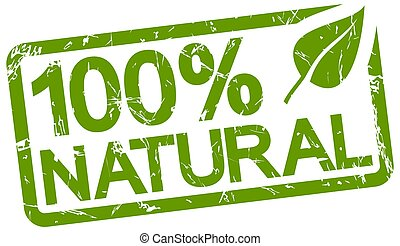 green stamp with text 100% natural