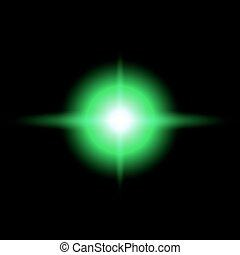 GREEN Star burst vector illustration