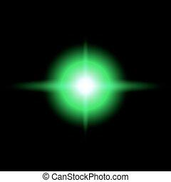 GREEN Star burst vector illustration