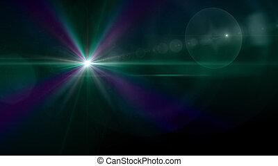 green star effect background