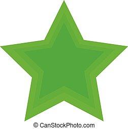green star icon on white background. eps10
