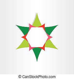 green star with text box design element