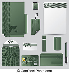 Green stationary vector set - Stationary vector set with...