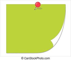 green sticker. Illustration for design on white background