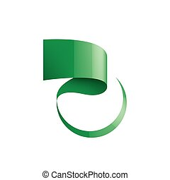 green sticker on white background. Vector illustration