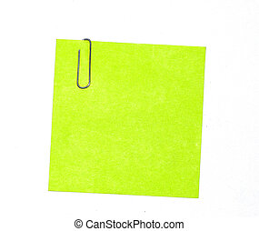Green sticky isolated on a white back ground