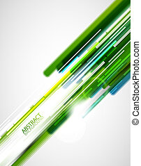 Green straight lines background - Vector abstract...
