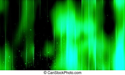 Green streaks and particles abstract looping CG animated...