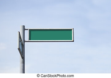 Green Street Sign Board - Green street sign board erected