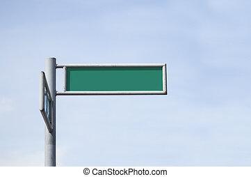 Green Street Sign Board - Green street sign board erected