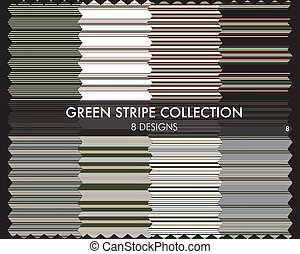 Green Stripe Seamless Pattern Collection