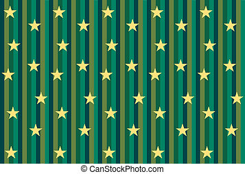 Green striped background with stars