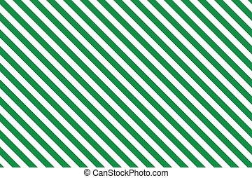 Green stripes on white background