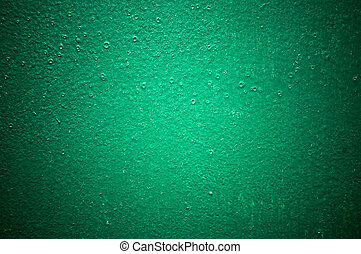 green structural painted wallpaper on the wall