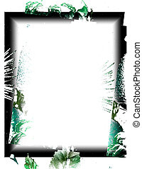 green black border on white
