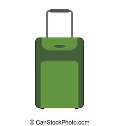 green suitcase travel equipment