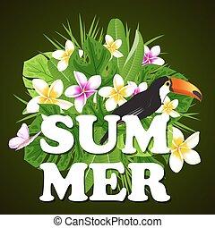 Green summer banner.