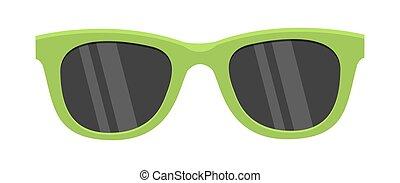 Green Sunglasses Icon
