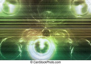Green Supernova Abstract Background Wallpaper