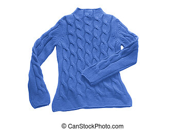 green sweater - blue sweater with pattern (contains clipping...