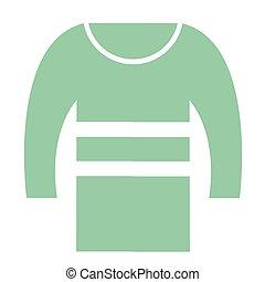 green sweater flat illustration