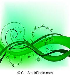 Green swirl design