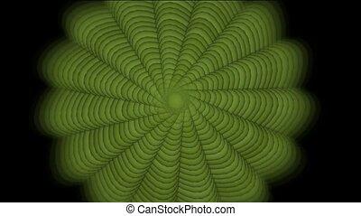 green swirl floral pattern
