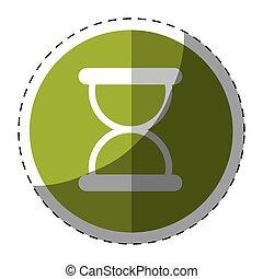 Green symbol loading button icon