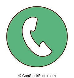 Green symbol phone image design