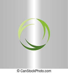 green symbol recycle logo ecology vector sign icon design