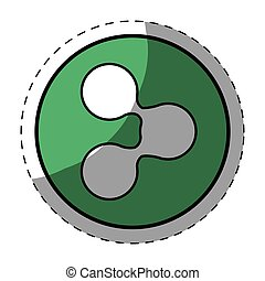 Green symbol share button image