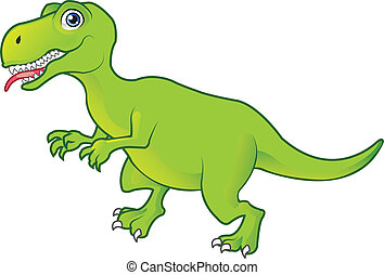 T Rex  - Green T Rex Cartoon