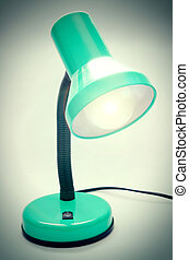 table lamp - green table lamp in the office