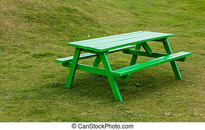 Green Table on Green Grass