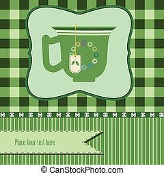 green tea background