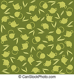 Green tea background, vector illustration