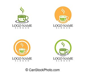 Green tea cup icon and symbol vector illustration
