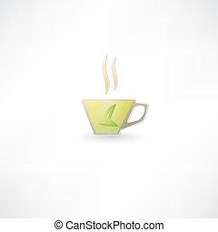 green tea cup icon