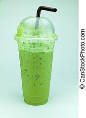 Green tea drinks popular.
