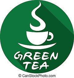 green tea flat icon
