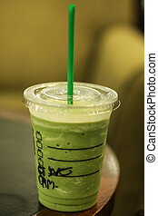 Green tea frappe it good for summer time