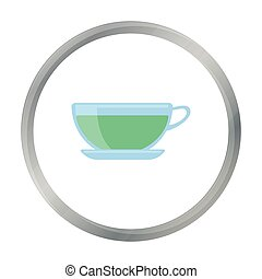 Green tea icon of vector illustration for web and mobile