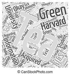 green tea information Word Cloud Concept