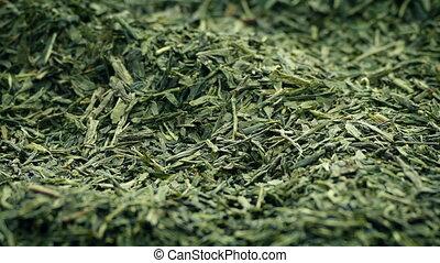 Green Tea Leaves Closeup