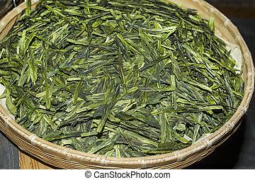 Green Tea Leaves on the Market